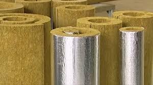 Базальтовый цилиндр для труб, фольгированный, толщина 50мм,диаметр 200