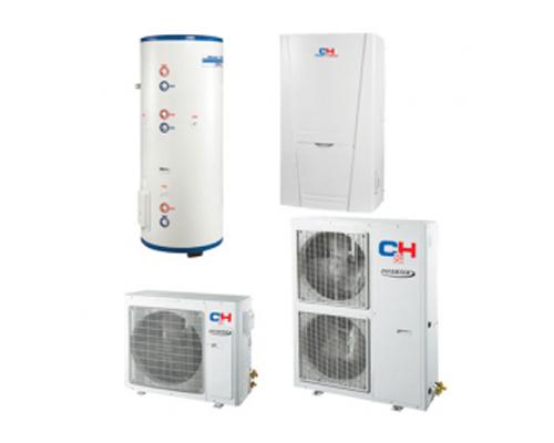 Тепловые насосы  Для отопления и горячего водоснабжения  Тепловой насос серии GRS-CQ12.0Pb/Na-K
