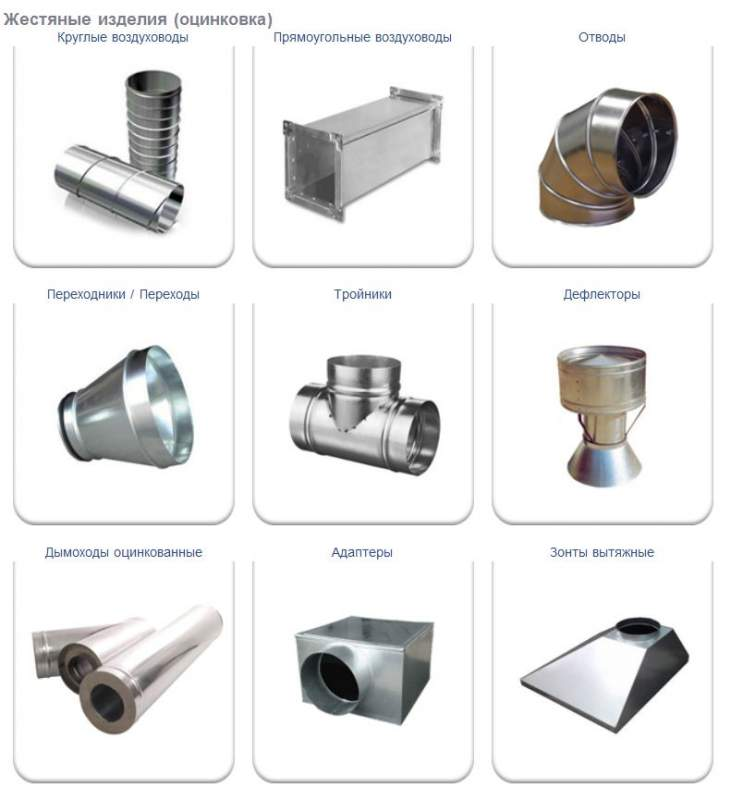 Buy Tin products galvanization Air ducts