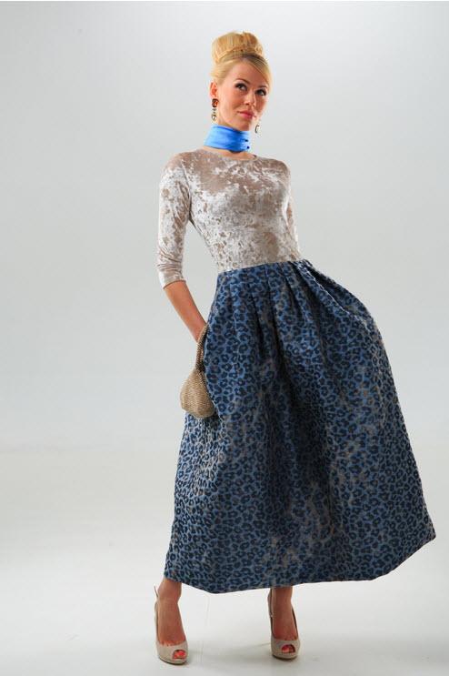Длинное платье колокол