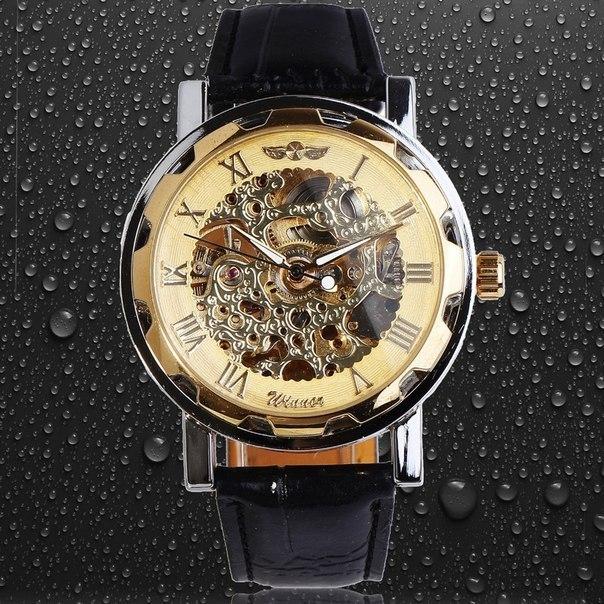 Механічні чоловічий годинник WINNER AUTOMATIC GOLD-SILVER купити в Київ f2f720b3a98c8