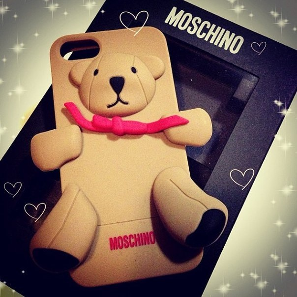Buy COVER ON IPHONE 5/5S MOSCHINO TEDDY BEAR BROWN