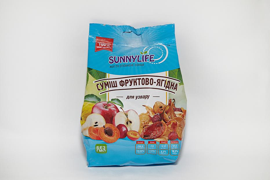 """ТМ """"SunnyLife""""  смесь фруктово-ягодная для узвару"""