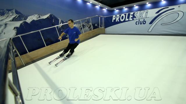Горнолыжный тренажер PROLESKI в помещении - бесконечный склон, лыжный тренажер, аттракцион
