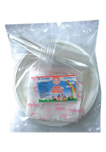 Buy Sets of disposable tableware for 10 persons