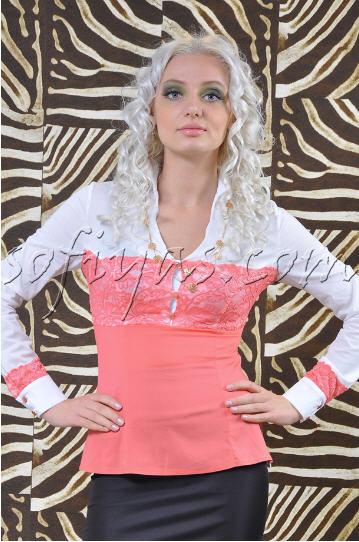 23fb8bd96fd Блузки с кружевными вставками