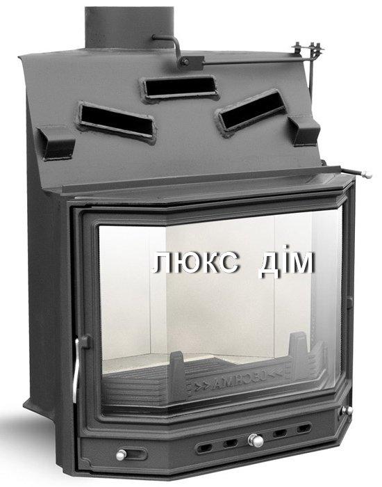 Камин топка Lechma PP-190 Korner pryzma (цельное стекло)