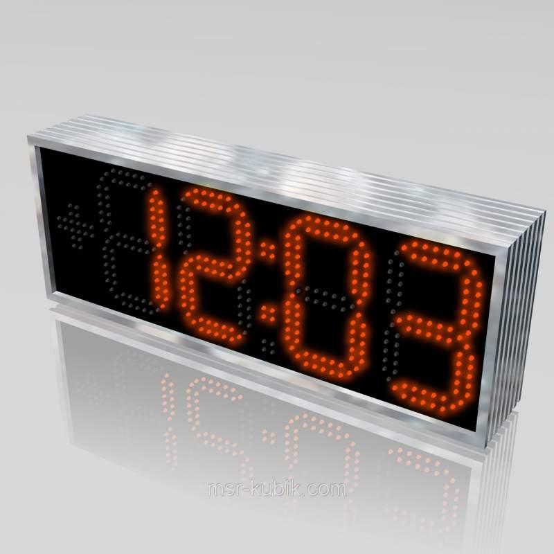 Купити Годинник-Термометр светодиодние вуличні 610х225 мм