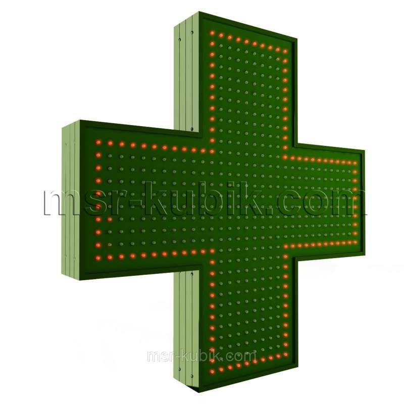 Купить Аптечный крест 750х750 светодиодный односторонний