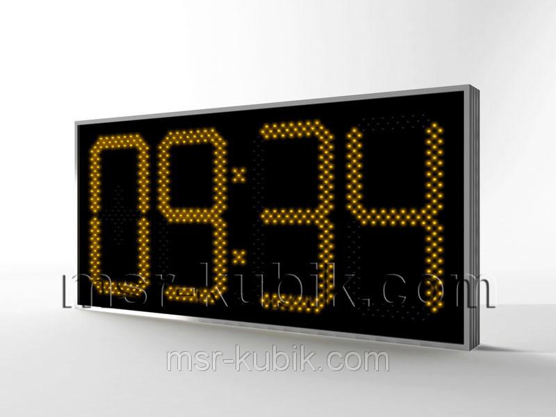 Купить Часы-термометр светодиодные уличные 1300х620 мм
