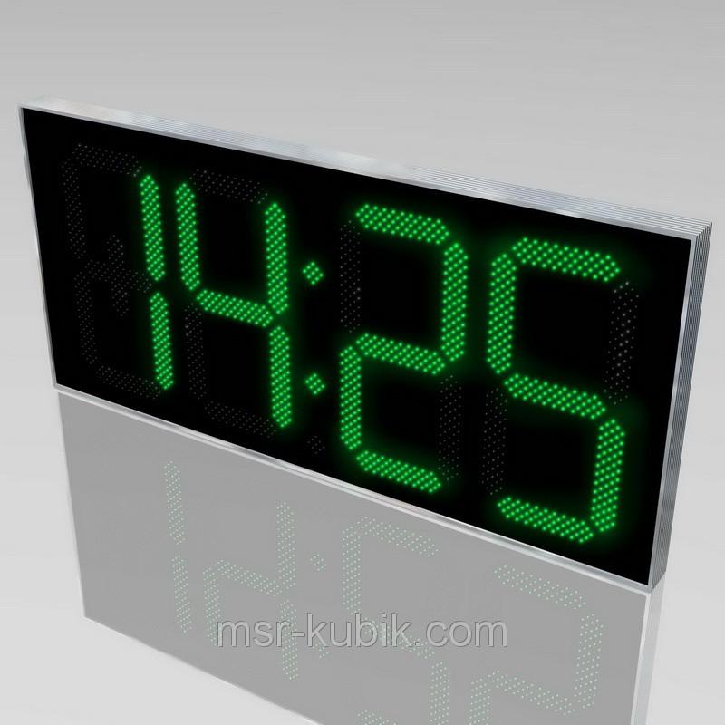 Купить Часы-термометр светодиодные уличные 2100х1000 мм