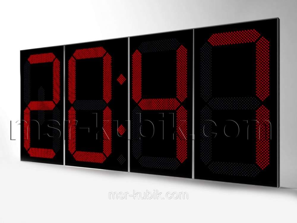 Купить Часы-термометр светодиодные уличные 4000х1800 мм