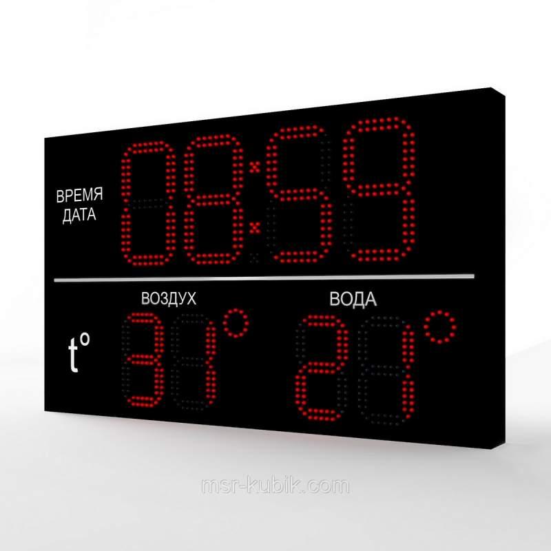 Купити Светодиодное табло для басейну 1000х600 мм ( годинник-термометр)