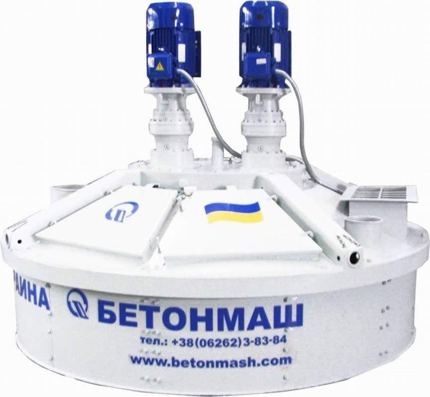 Купить Бетоносмеситель планетарно-роторный СБ-242-8М объем 1500 л