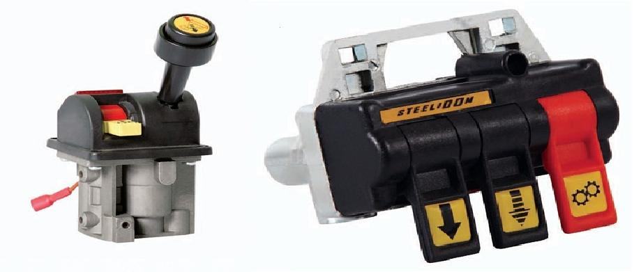 The switch and joysticks of pneumatics, for dump trucks