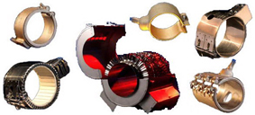Купить Ленточные, кольцевые, хомутовые, сопловые нагреватели Нагреватели для форсунок из миканита (слюдяные); в нержавеющей оболочке; с керамической изоляцией, возможно с термоэлементом - прочные нагревательные элементы для контактного нагрева цилидрических тел