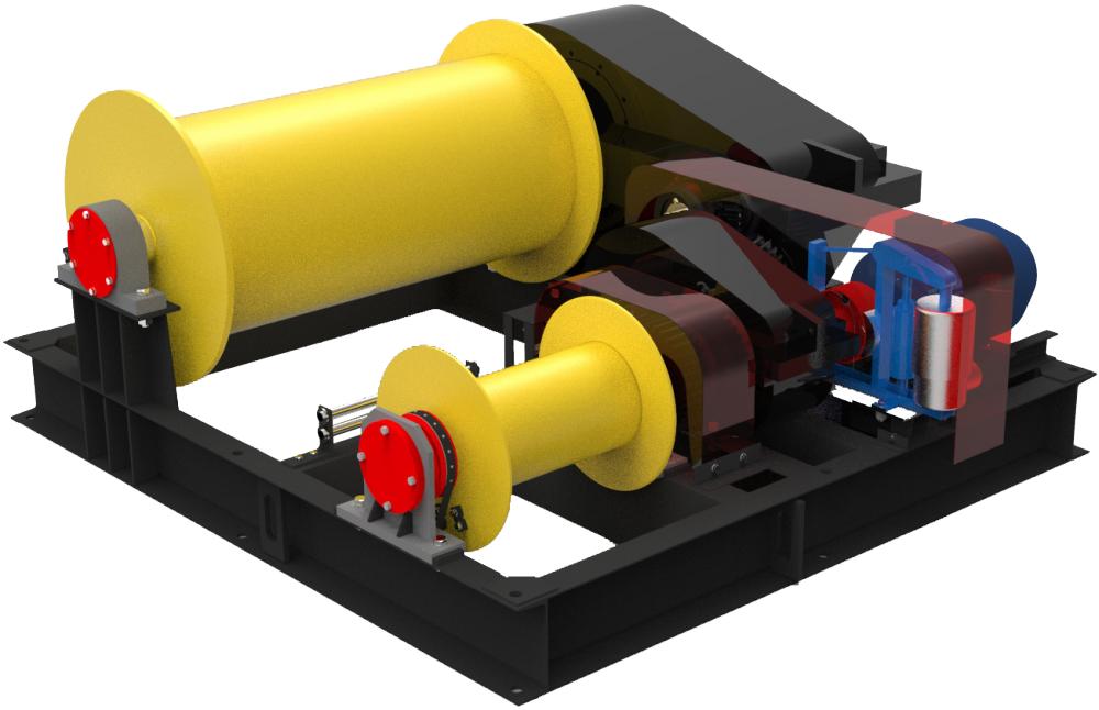 Лебедка электрическая тяговая ТЛ-15 и маневровая ТЛ-15М