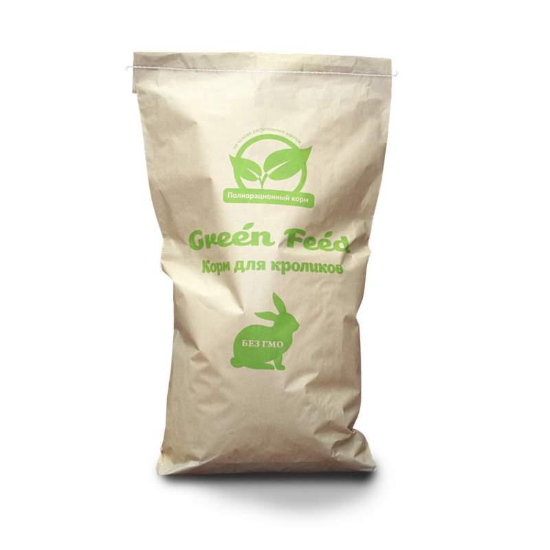 Полнорационный корм для кроликов (TM Green Feed для самок и молодняка)