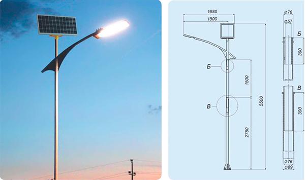 Купити Светодиодний світильник на сонячних батареях SGM 50/50