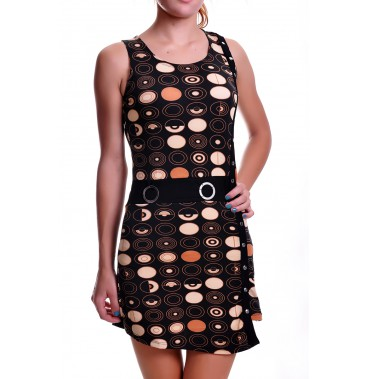 Платья сарафан 4141-BROWN