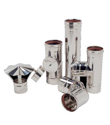 Дымоход одностенный из нержавеющей стали 0,5 мм d=100 мм