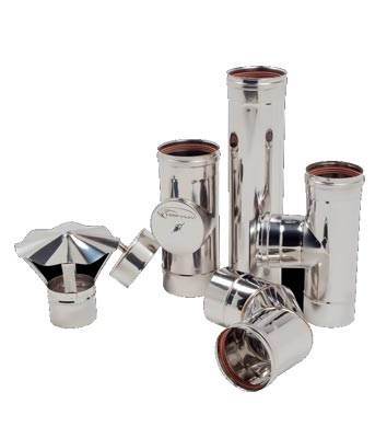 Дымоход одностенный из нержавеющей стали 0,8 мм d=100 мм
