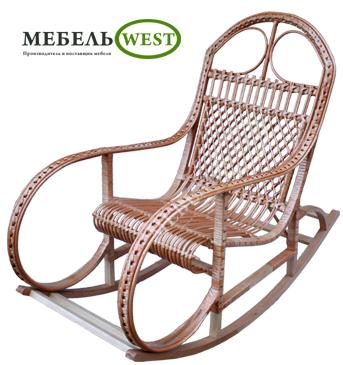 Плетеная мебель из лозы, Кресло-качалка Буковая Плюс