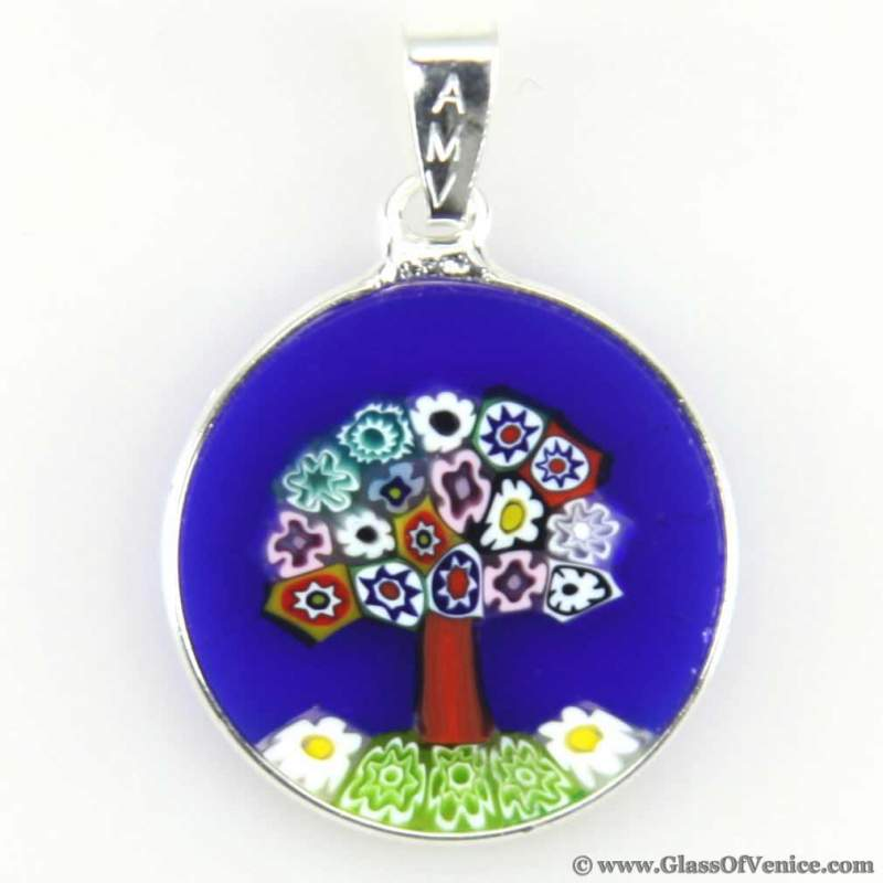 "Buy Millefiora pendent ""Happiness tree"