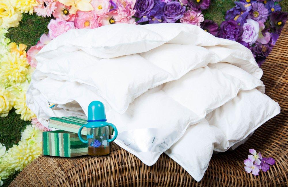 Одеяло детское 110×140 см DeLuxe collection 300 г, 100% белый гу