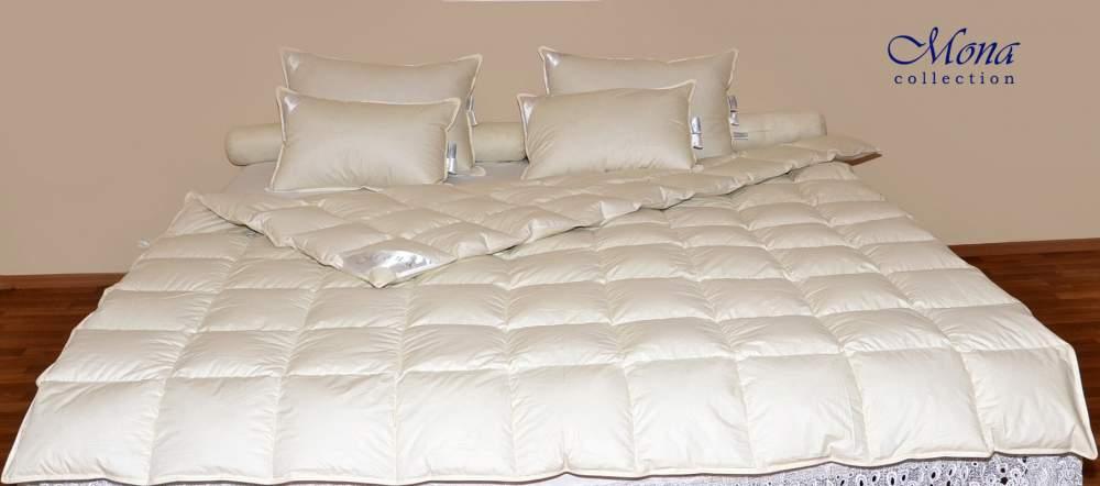 Одеяло детское 110×140 см,  200 г,  90% белый гусиный пух
