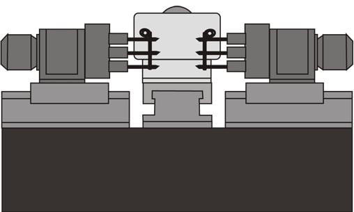 Станок АХТ-05 - производится сверление 3-х отверстий диаметром 17Н14мм и отверстия диаметром 27Н15мм в двух деталях одновременно