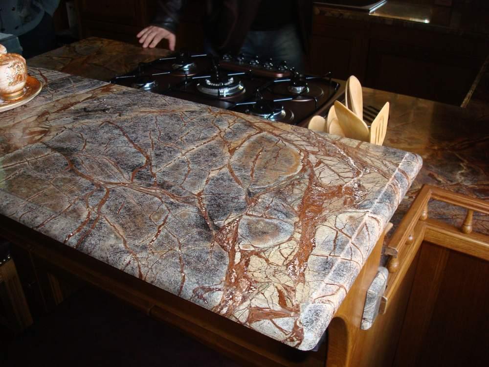 Купить Мраморная кухонная столешница под плиту