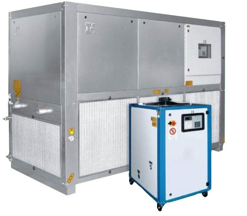 Промышленные охладители жидкости (чиллер, чиллеры, куллер, холодильная установка). Мощность охлаждения 2,2-960 кВт / 1,892-825,600 ккал. Италия.