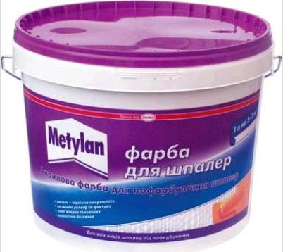 Купить METYLAN CERESIT Краска акриловая для окраски обоев (5л)