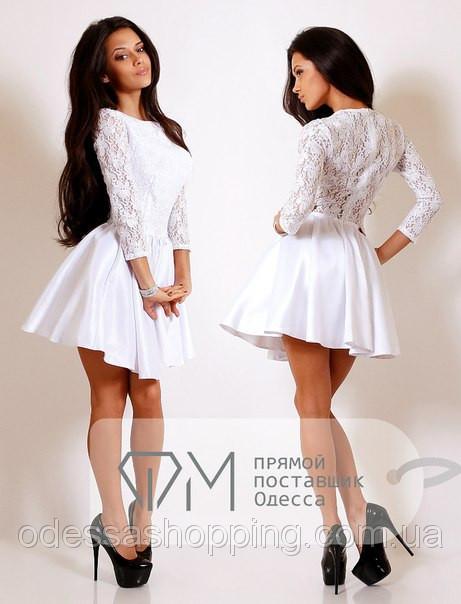 7e7fec874ae6fa Біле плаття з гіпюровим верхом купити в Одеса