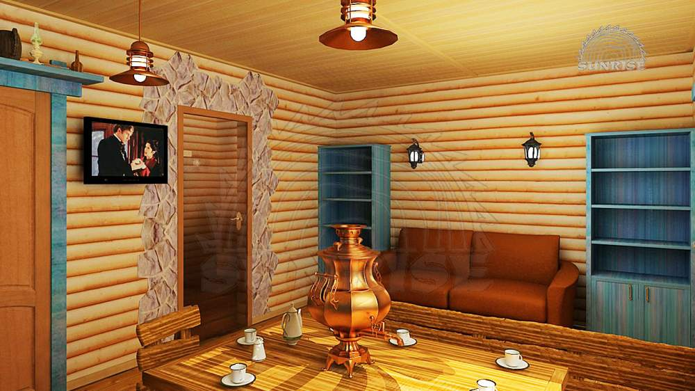 Блок-хаус сосна, для внутренней обшивки домов (ширина 80-120 мм)