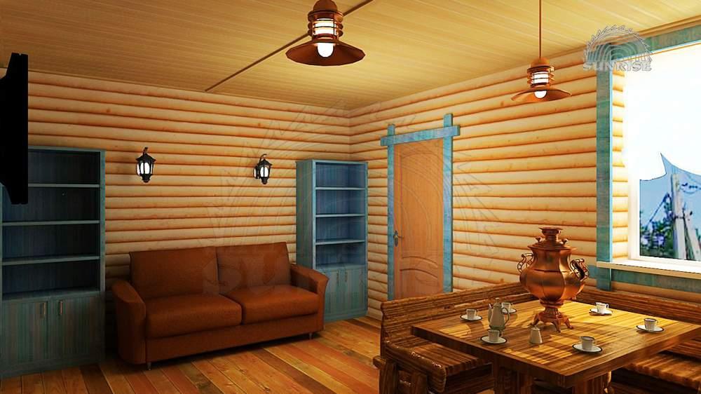 Блок хаус сосновый цельный 45 мм х 108/140/195 мм х 2,0-2,8 м