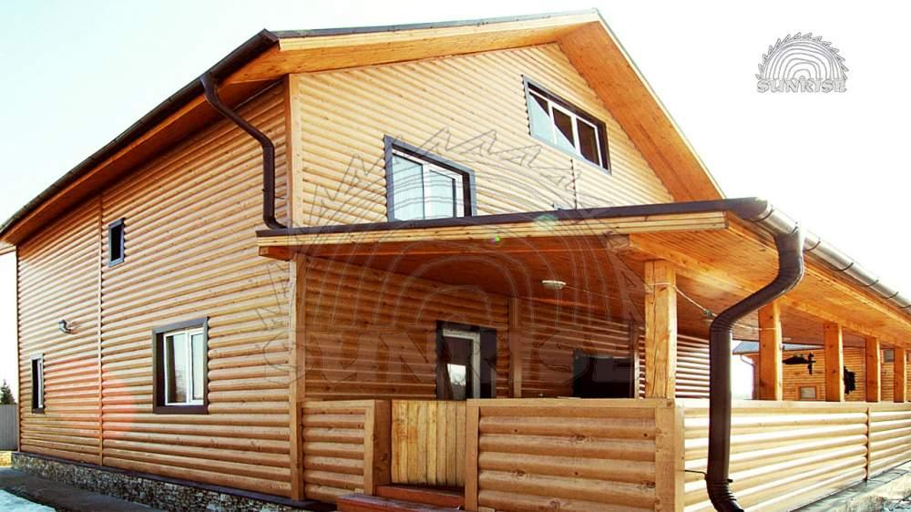Блок хаус сосновый цельный 34 мм х 106/146/186 мм х 4,55-7,00 м