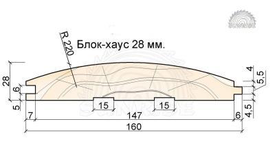 Блок-хаус сосна - 28мм, для внутренней отделки