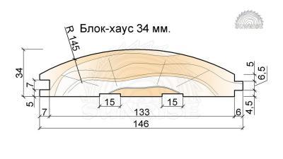 Блок-хаус 34 мм для отделки домов внутри и снаружи