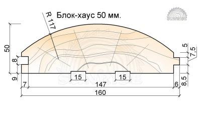 Блок хаус 45-50 мм для наружной отделки дома