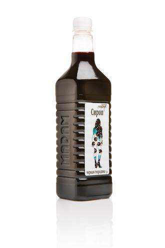 Сироп для молочных коктейлей и газированной воды Черная смородина ТМ  Sweet Madam