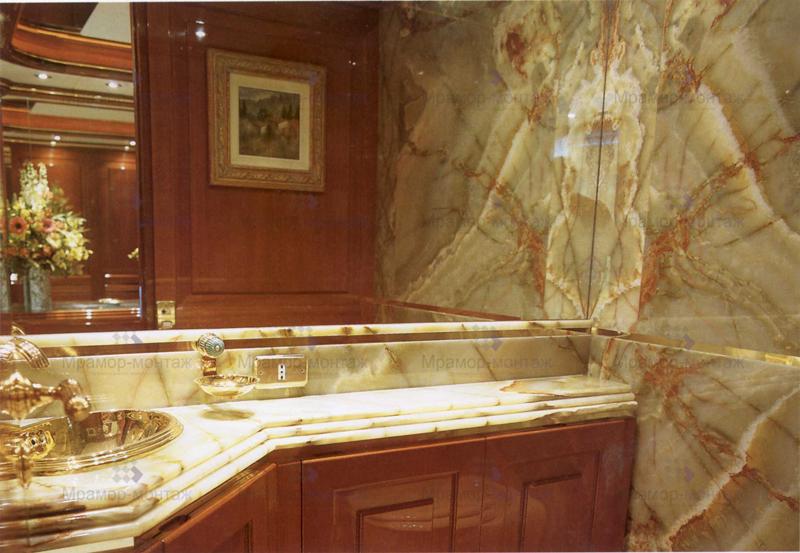 Купить Столешницы для ванной из мрамора
