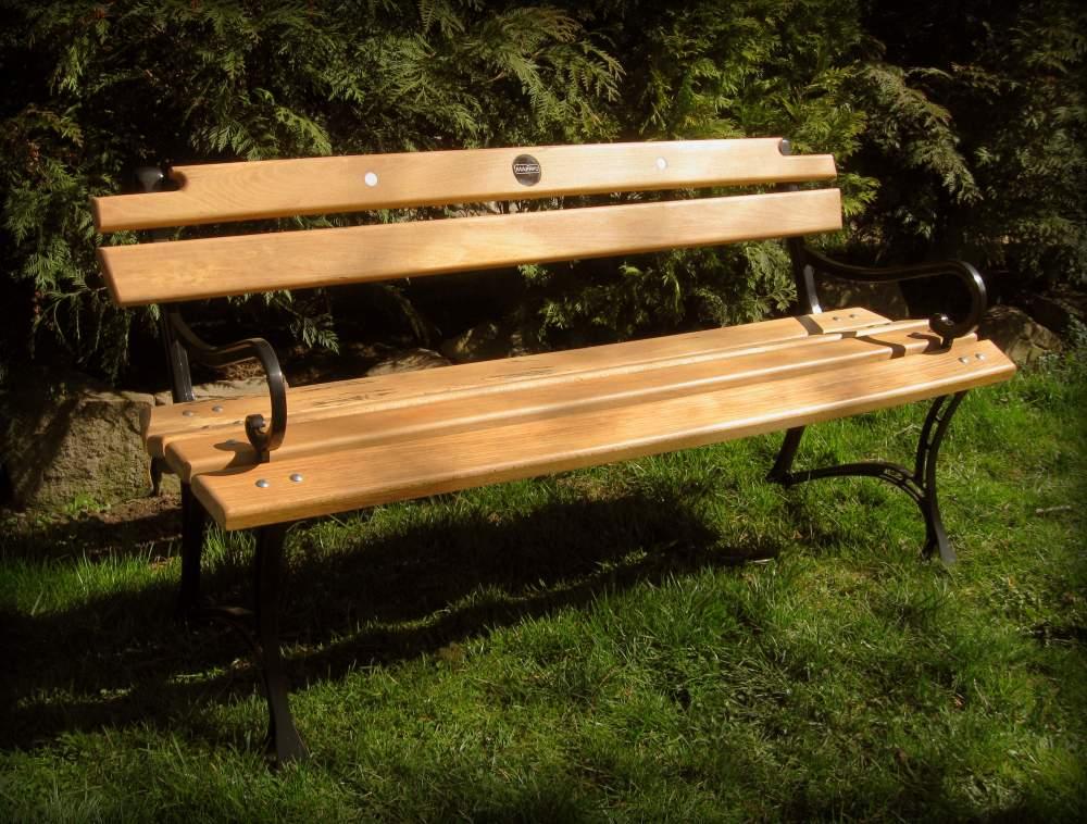 Лавка деревянная садовая
