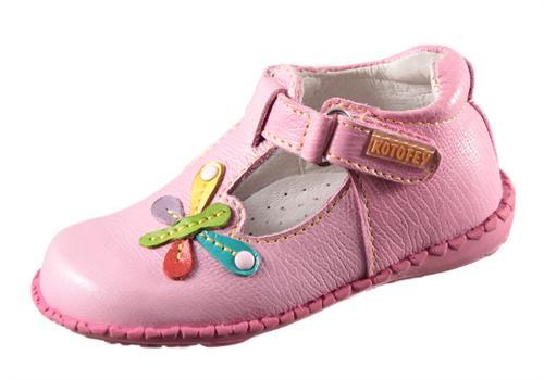Купить Нарядные туфли для девочки из натуральной кожи розовые