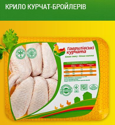 Крылья куриные цыплят-бройлеров ТМ Гавриловские курчата: охлажденные нефасованные, на подложке, в термоформе вакуум, в СЭС упаковке индивидуальном пакете