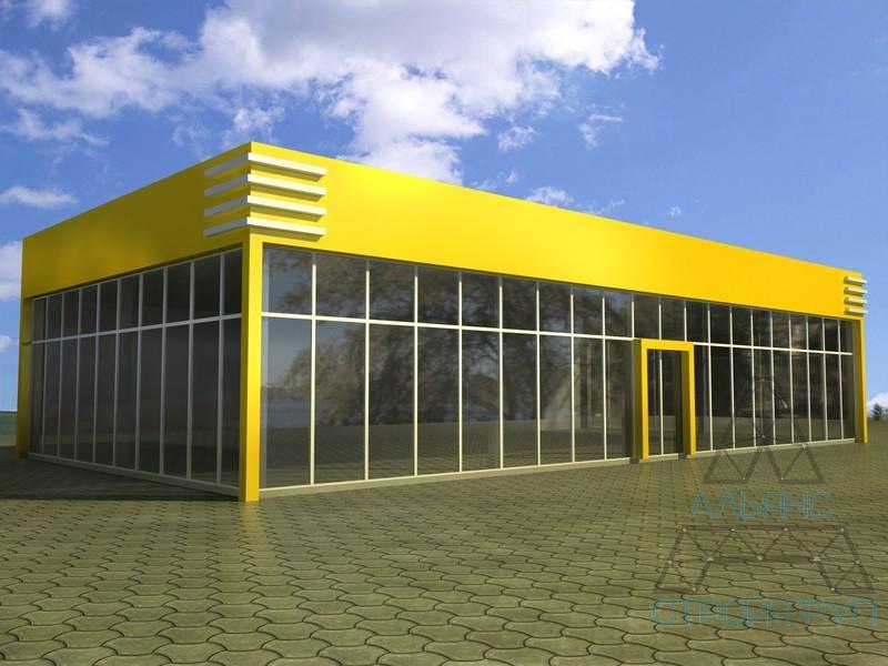 Магазины и минимаркеты из металлоконструкций. Магазин 38