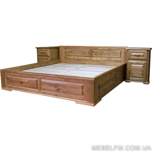 Купить Двуспальная кровать Breda С сделана из экологически чистого и натурального дерева дуб цена
