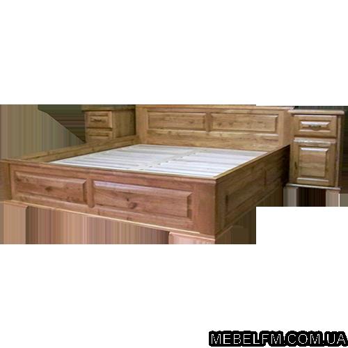 Купить Двуспальная кровать Breda С сделана из экологически чистого и натурального дерева дуб