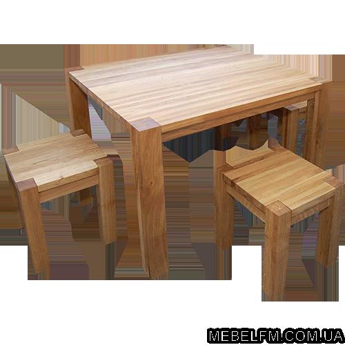 Купить Комплект мебели из дуба Grand состоит из четырех табуретов и одного стола. Предназначен для кухни, столовой, дачи цена Украина